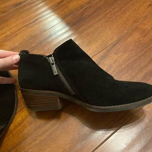 Lucky Brand Suede Black Booties